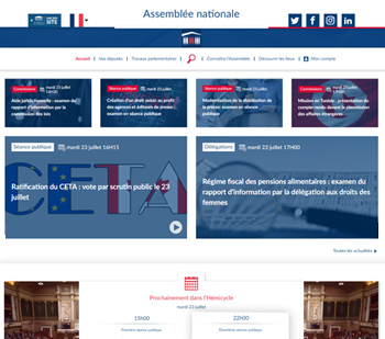 Site de l'Assembl�e nationale